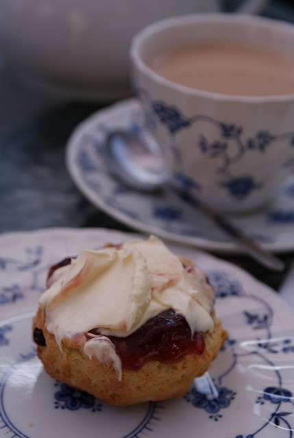 British Cream Tea - The Swan in Bibury, The Cotswolds