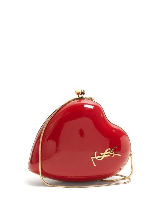 adf48203efb1 Saint Laurent Heart-shaped leather minaudière