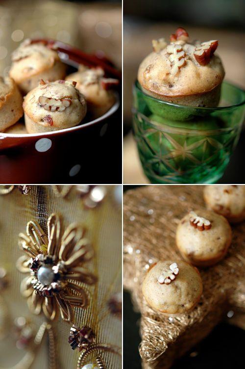 Muffins parfumés cannelle, datte & pécan