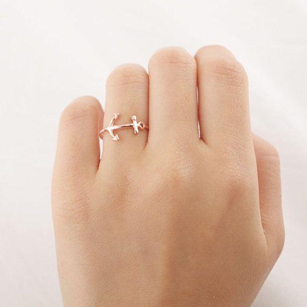 Roségold Anker Ring,  Anker ring
