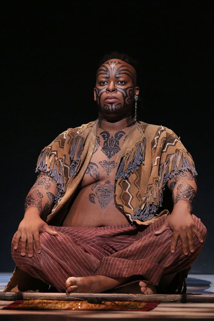 """Musa Ngqungwana as Queequeg in """"Moby-Dick"""""""