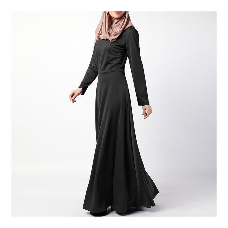 Dress Muslim Women Garments Middle East black M