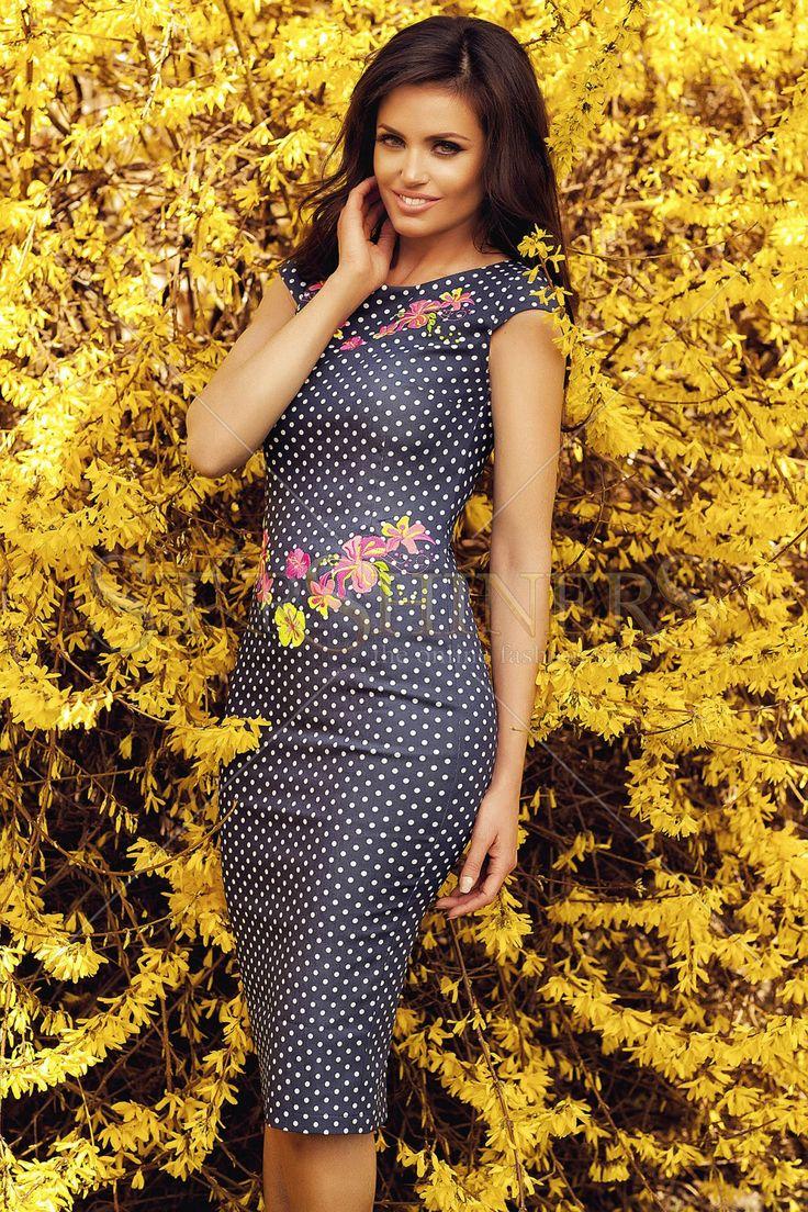 StarShinerS Brodata Sunset DarkBlue Dress