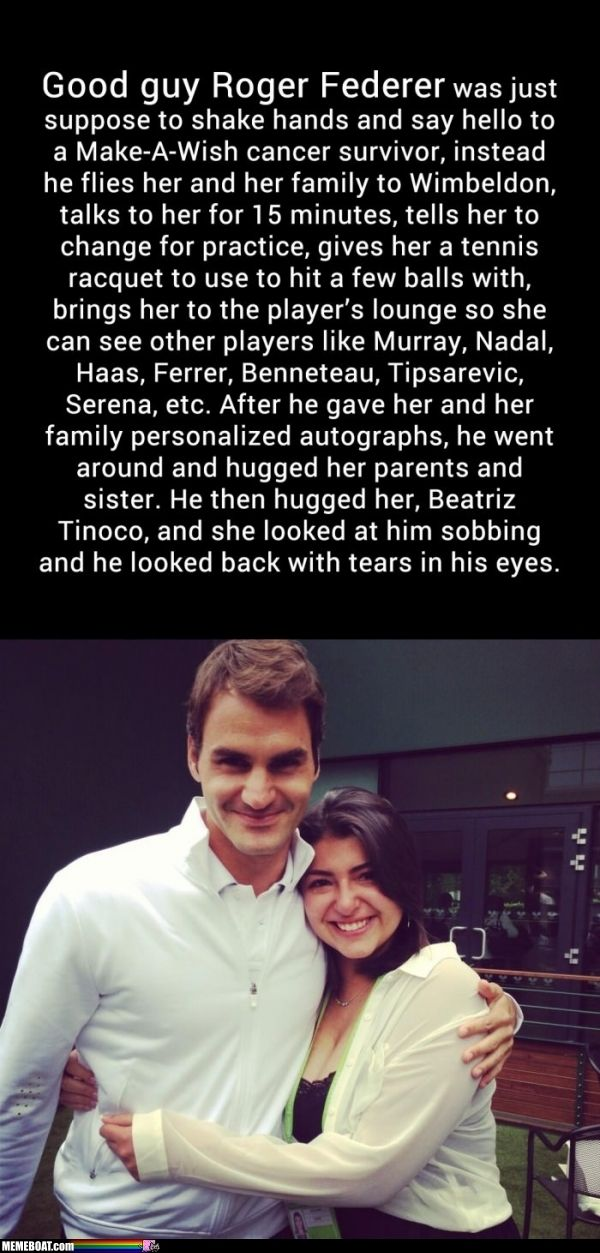 Good Guy Roger Federer..well duh..that is why he is my BOYFRIEND! *sigh*