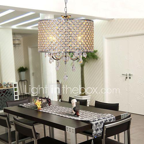 Lámparas Araña , Moderno / Contemporáneo Tambor Galvanizado Característica for Cristal Metal Sala de estar Dormitorio Comedor 2017 - $371496