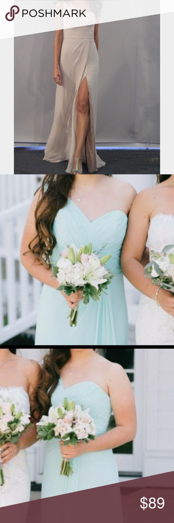 Watters&Watters Light Blue Bridesmaid Dress Chiffon, light blue Watters & Watters collection piece. Extremely lightweight and breathable while also complimenting the waist. The soft blue color is a MUST this prom season! Only worn once and in perfect condition! Comment below for more details! 👗 Watters&Watters Dresses Wedding