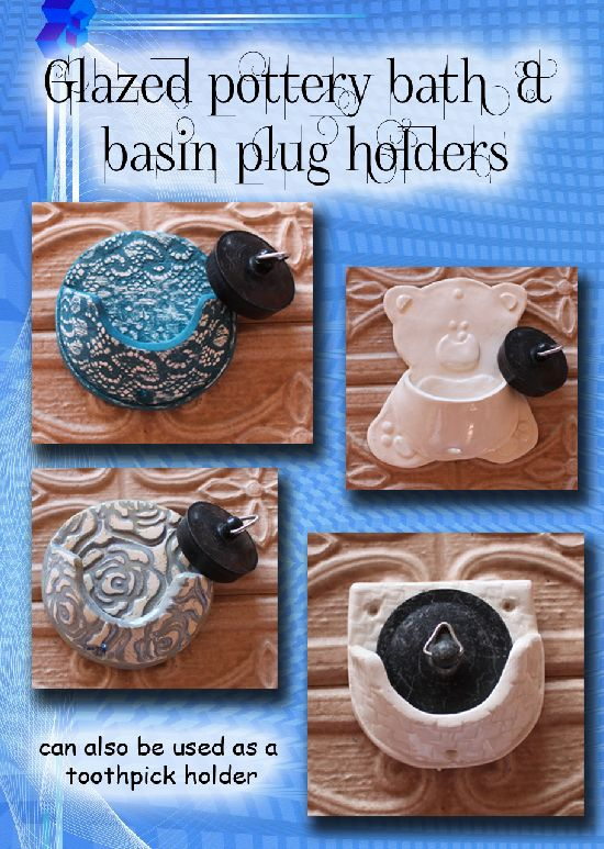 Basin and bath plug holders