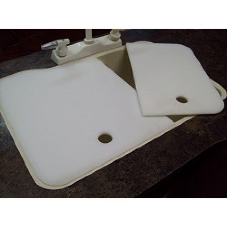 """19"""" X 25"""" 60/40 RV Kitchen Sink Covers - Cream"""