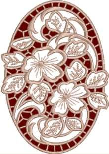 cutwork embroidery | cutwork oval geranium lace machine embroidery design details $ 9 97 ...
