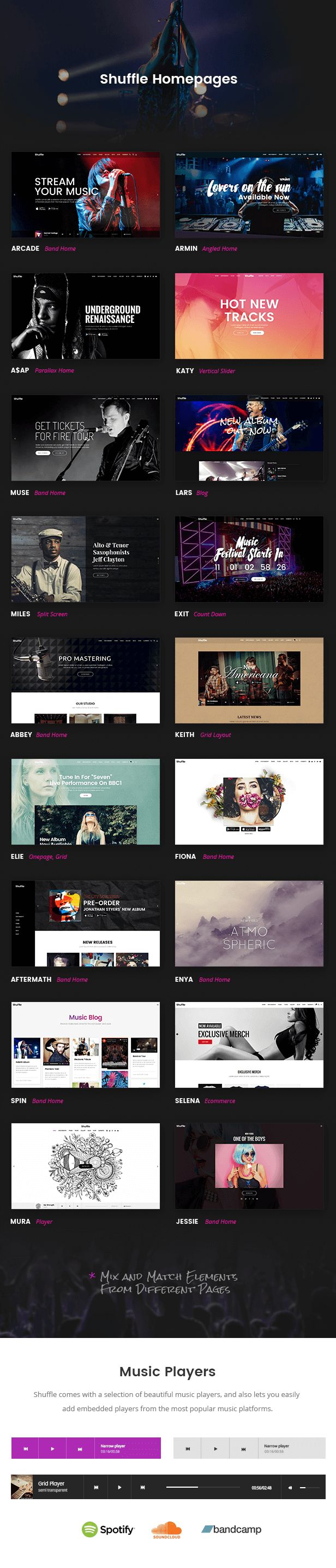 Shuffle - All-Purpose Music Theme with Genre-specific Skins & Homepages #wordpress #label #twitter • Download theme ➝ https://themeforest.net/item/shuffle-allpurpose-music-theme-with-genrespecific-skins-homepages/18281364?ref=pxcr