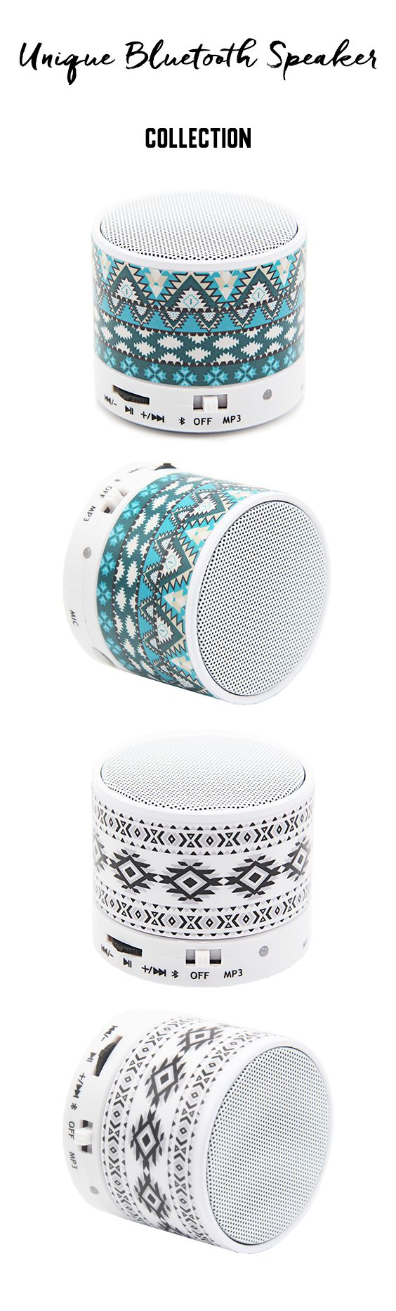 Flowers Pastel Design Portable Bluetooth Mini Speaker