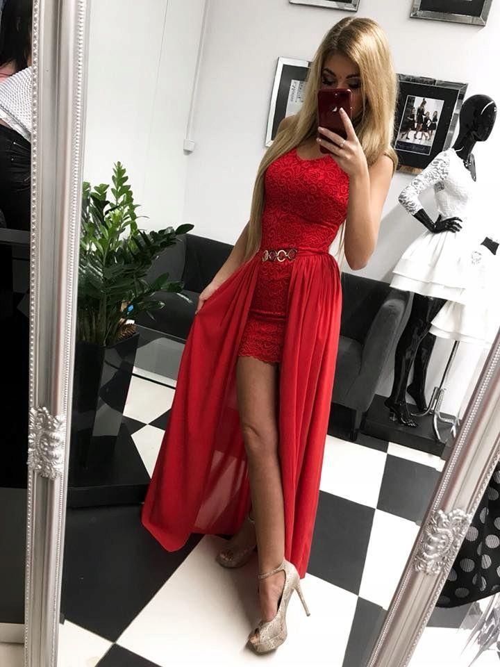 Elegancka Sukienka Dwuczesciowa Wesele Koronka Xs 7468105349 Oficjalne Archiwum Allegro Fashion Style Formal