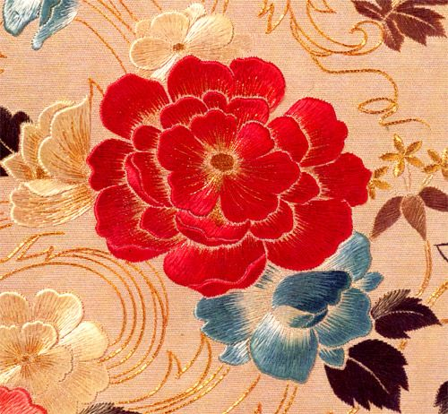 Japanese version of a rose - Japanese Embroidery Guild