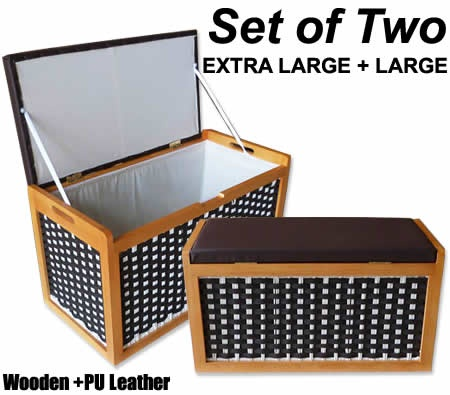 Set of two wooden storage with elegant design. #NewArrival
