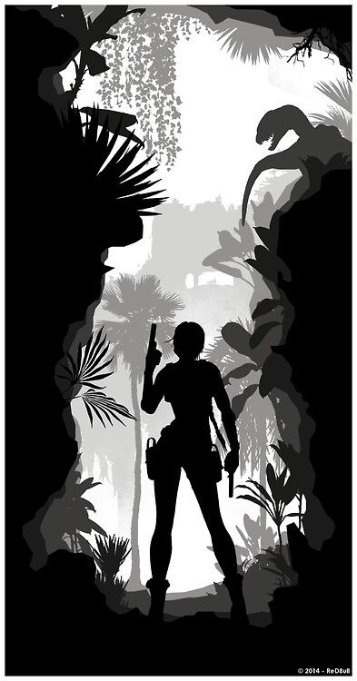 Tomb Raider Silhouette Art •Red8ull