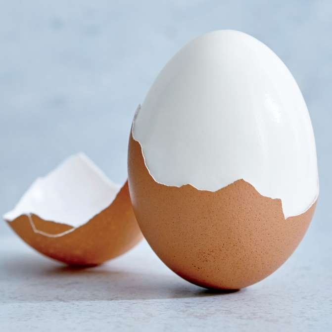 Instead of boiling the traditional way, steam up to a dozen eggs in a steamer basket suspended over boiling water for 15 to 16 minutes; shells slip right off.