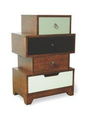 Rye 4-Drawer Asymmetric Chest of Drawers - Multicoloured