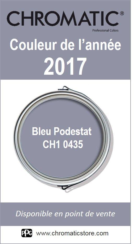 Finalisez votre projet #peinture avec le #Bleu #Podestat CH1 0435, #couleur de l'année 2017 CHROMATIC, en vous rendant dans l'un de nos points de vente partenaires.Trouvez votre distributeur sur www.chromaticstore.com