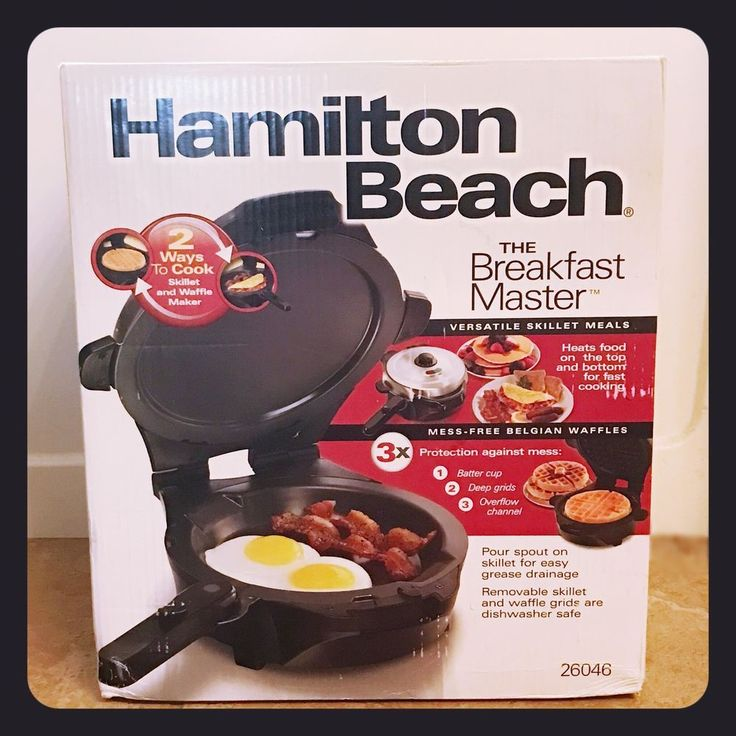 NEW Hamilton Beach 26046 The Breakfast Master Waffle Maker & Skillet  | eBay
