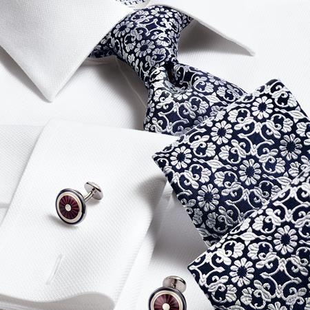 Charles tyrwhitt luxury navy floral tie haberdashery for Mens dress shirts charles tyrwhitt