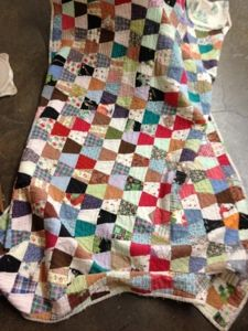 Vintage Tumbler Quilt, found in Verona, VA July 2012