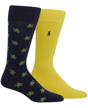 Polo Ralph Lauren Men's Big & Tall 2 Pack Socks - Navy 13-16