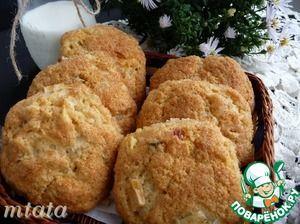 Рецепт: Творожно-яблочное печенье
