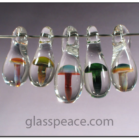 59 best glass mushroom beads images on pinterest glass mushrooms glass mushroom beads jewelry supplies by glasspeace mozeypictures Images