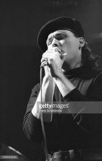 Billy MacKenzie of The Associates performs on stage at Paradiso on February 1 1985 in Amsterdam Netherlands