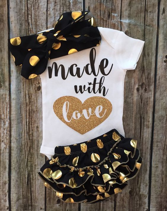 Made With Love Baby Girl Onesie - BellaPiccoli