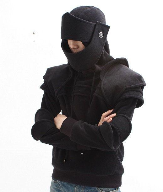 Black knight. Etsy listing at https://www.etsy.com/listing/153698244/black-duncan-armored-knight-hoodie100