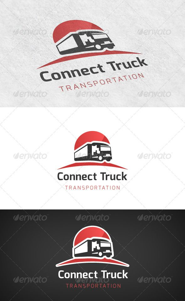 Truck Transport Logo #GraphicRiver