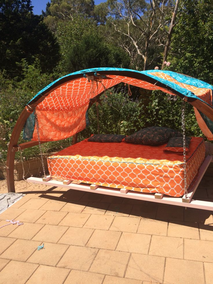 Shaded Hammock Hacked Into Outdoor Swing Bed Only 1 2 The