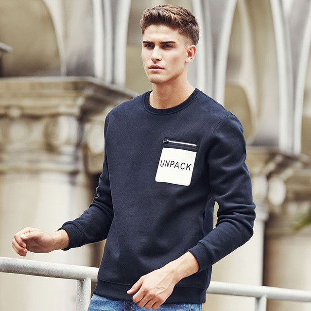 New Style autumn winter hoodies men clothing high quality fleece Pullovers male Casual Sweatshirt