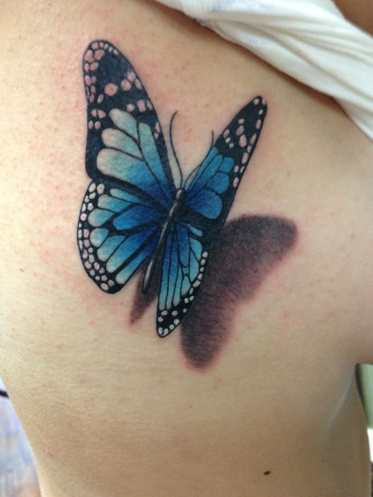 35 best Blue Monarch Butterfly 3d Tattoo images on Pinterest