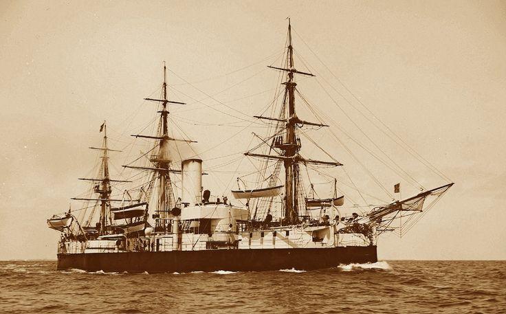 Encouraçado de Esquadra Aquidabã  Um dos 90 Navios da Armada Imperial Brasileira, a 3ª mais poderosa Marinha de Guerra do planeta (mais que a dos EUA em 1889), que junto com a Marinha Mercante do Império, representava a 2ª Marinha do mundo. Rio de Janeiro