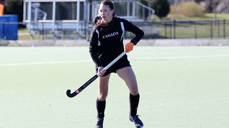 Field hockey teams named to TO2015 with Rio as additional prize - Canadian women's field hockey team captain Kate Gillis in training at the team's home in University of British Columbia, Vancouver.