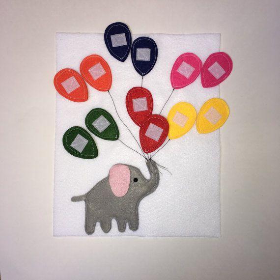 Ruhigen Buchseiten Kleinkind ruhiges Buch Elefant mit