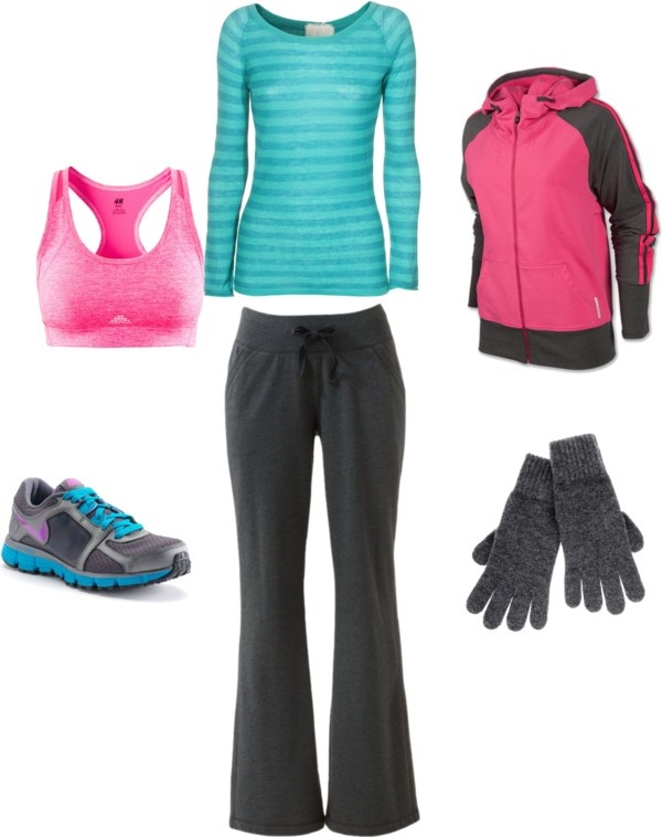 """Cold weather jogging outfit"""