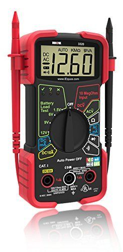 Digital Multimeter - safely and accurately troubleshoot a variety of automotive and household electrical problems