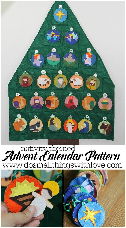 Felt Nativity Themed Advent Calendar Pattern