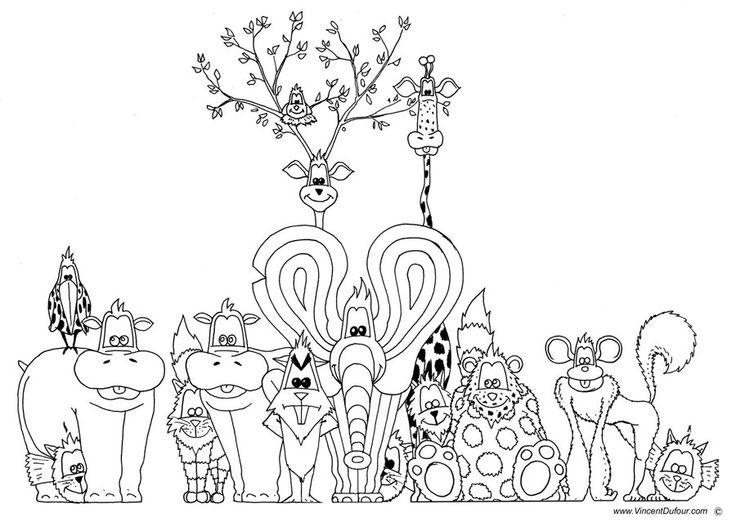 12 best coloriage animaux gratuit dessin colorier enfant animaux vincent dufour images on - Dessin enfant a colorier ...