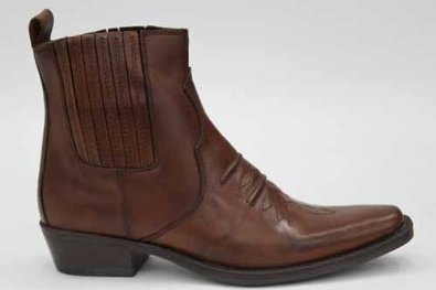 Gringos Mens Brown Leather Cowboy Western Ankle Boots UK Size 6 7 8 9 10 11 12: Amazon.co.uk: Shoes & Accessories £69.99