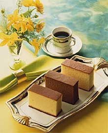 Kasutera - Japanese sponge cake.  absolutely delicious.  Link to recipe