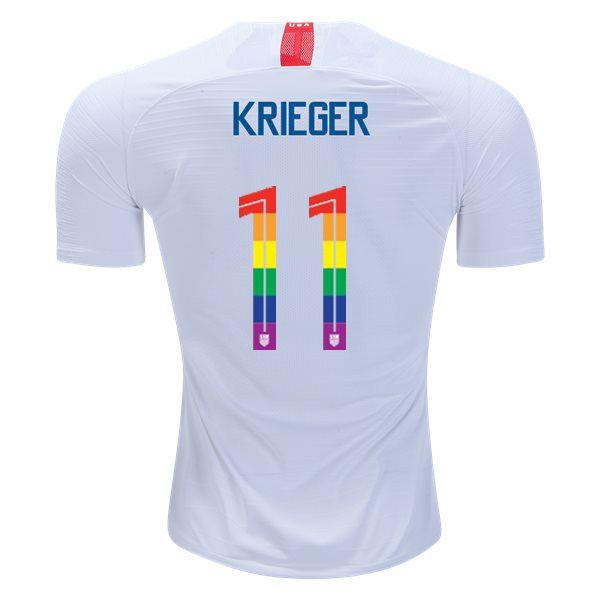 79ec1a33 2018/19 White/Red Ali Krieger Men's PRIDE Soccer Jersey USA   Ali ...