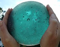Maybe the largest sea glass shard ever found England