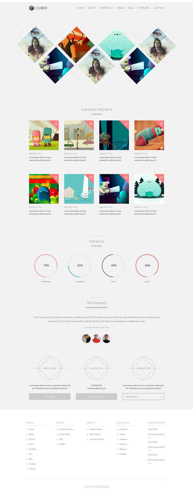 Cuber - Modern Responsive Minimal WordPress Theme http://themeforest.net/item/cuber-modern-responsive-minimal-wordpress-theme/5568261?ref=wpaw #web #design #wordpress