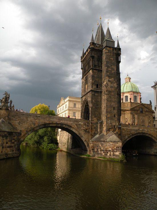 Mostecká tower at Charles Bridge in Prague, Czechia
