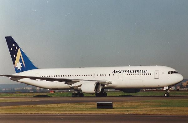 B767 VH-BZF Ansett, Sydney. Ansett's only 767-300 in service