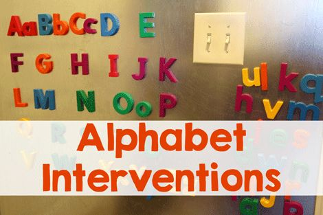 Alphabet Interventions for a Struggling Child // Second Story Window